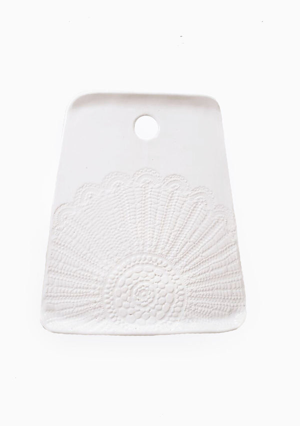Lace Cheeseboard | White