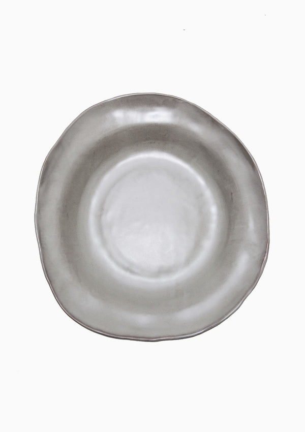 Piatra Serving Bowl | Gunmetal