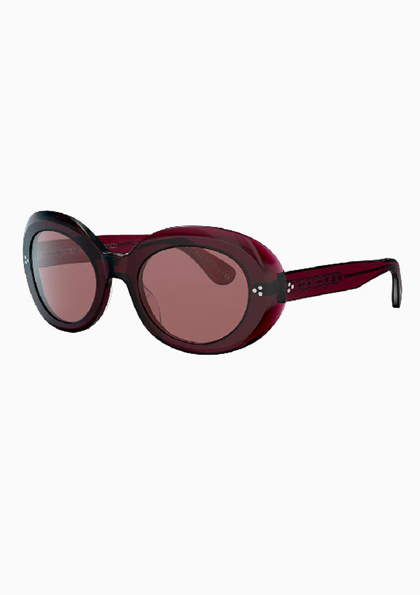 Erissa Sunglasses | Deep Burgundy