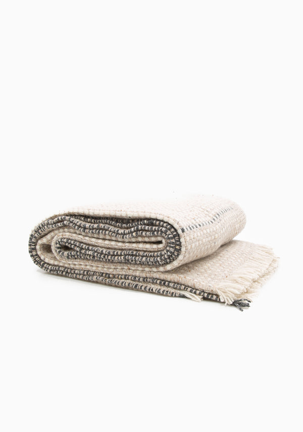 "Zeit Throw, Camel/Grey | 61"" x 78"""