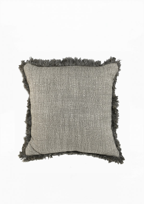 "Christo Pillow, Dark Grey, 23"" x 23"""