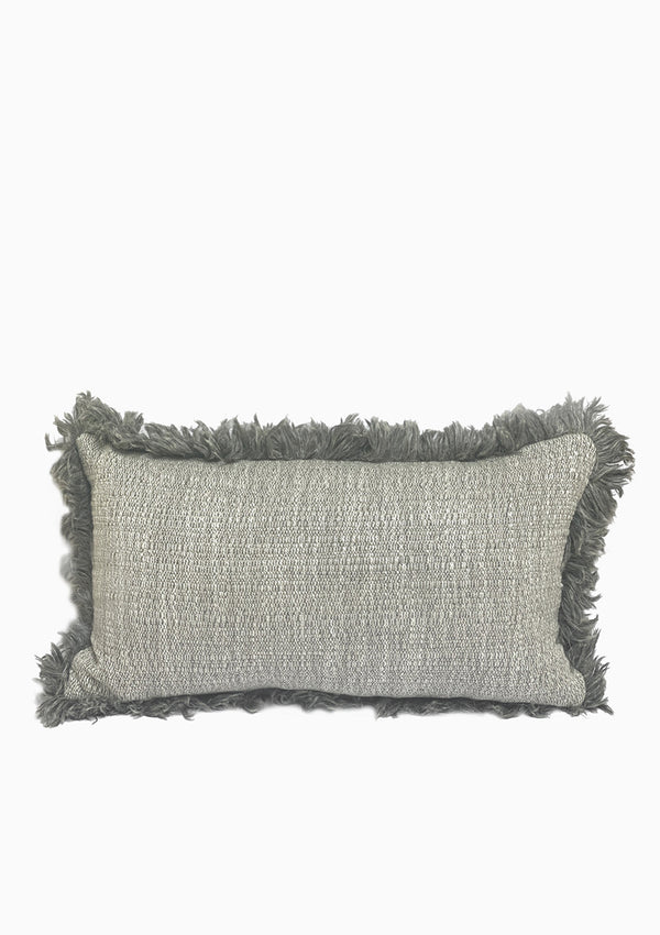 "Christo Pillow, Dark Grey, 24"" x 15"""