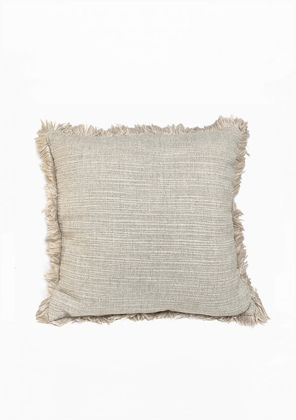 "Christo Pillow, White, 23"" x 23"""