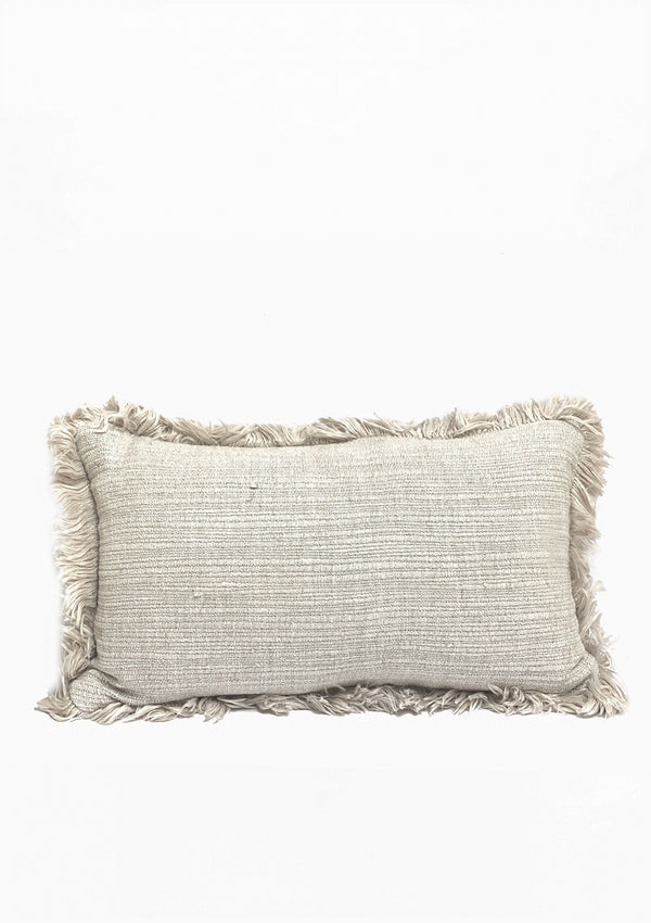 "Christo Pillow | White | 24"" x 15"""
