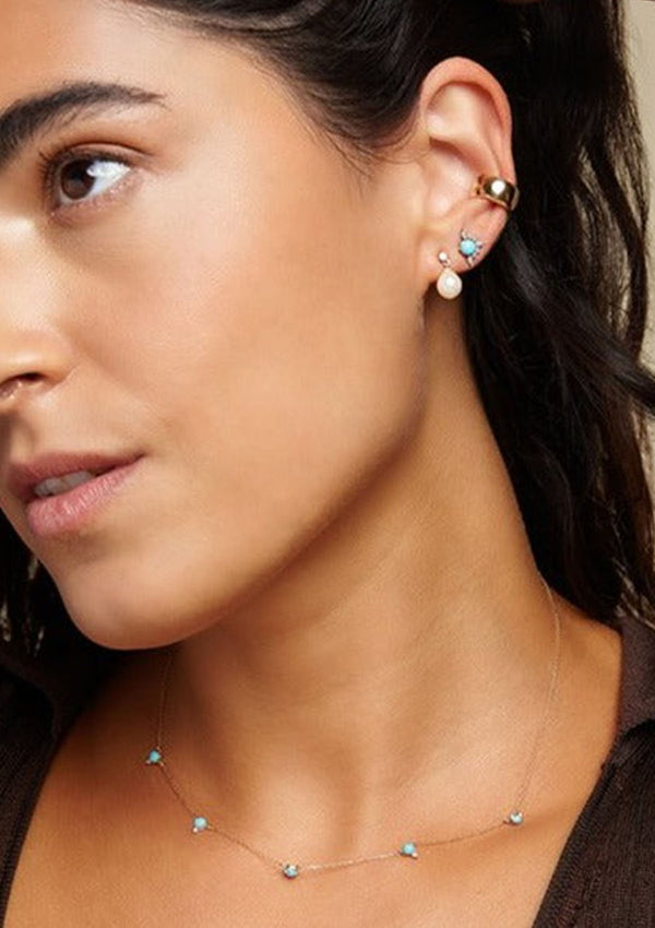 Wide Ear Cuff | Yellow Gold