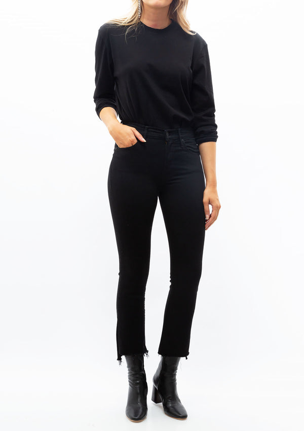 Long Sleeve Boy Tank Bodysuit | Black