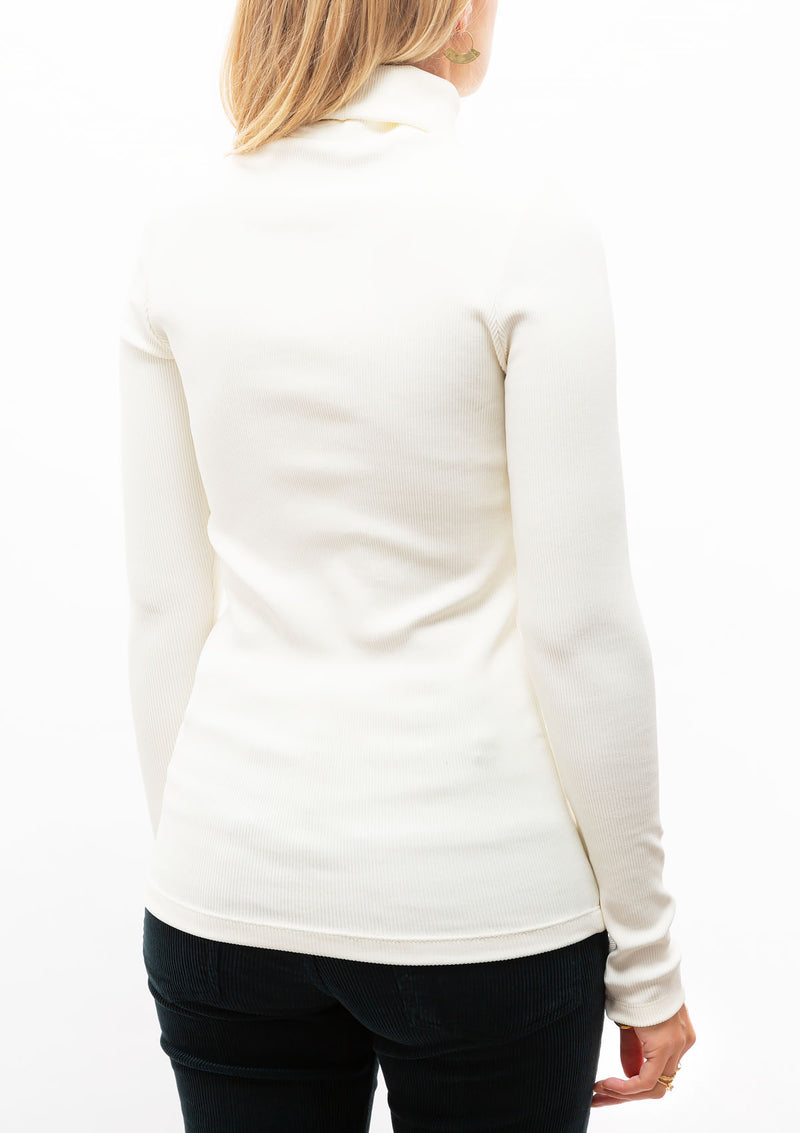 The Rib Turtleneck | Ivory