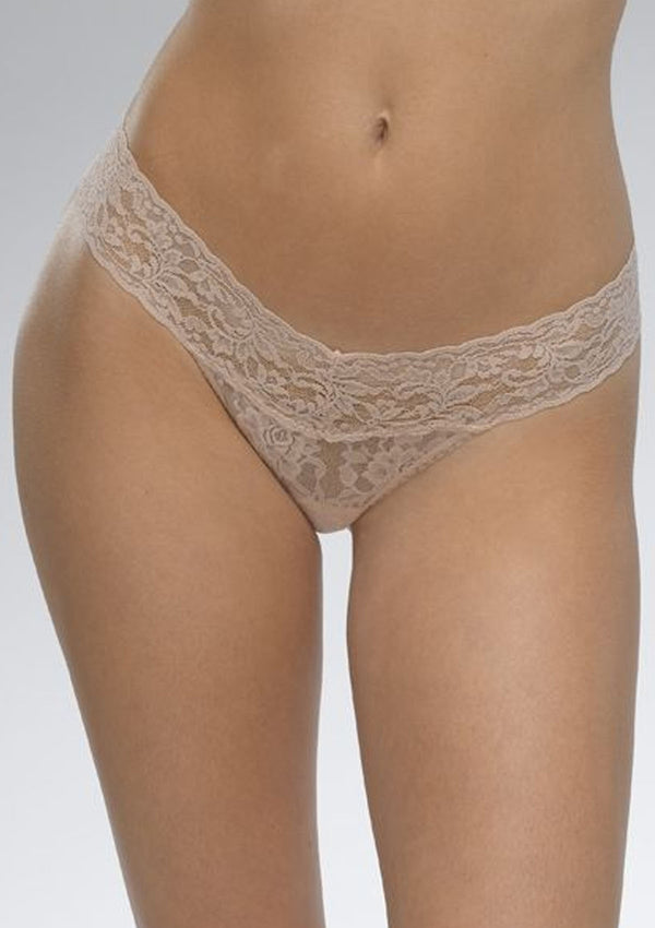 Lace Low Rise Thong | Chai