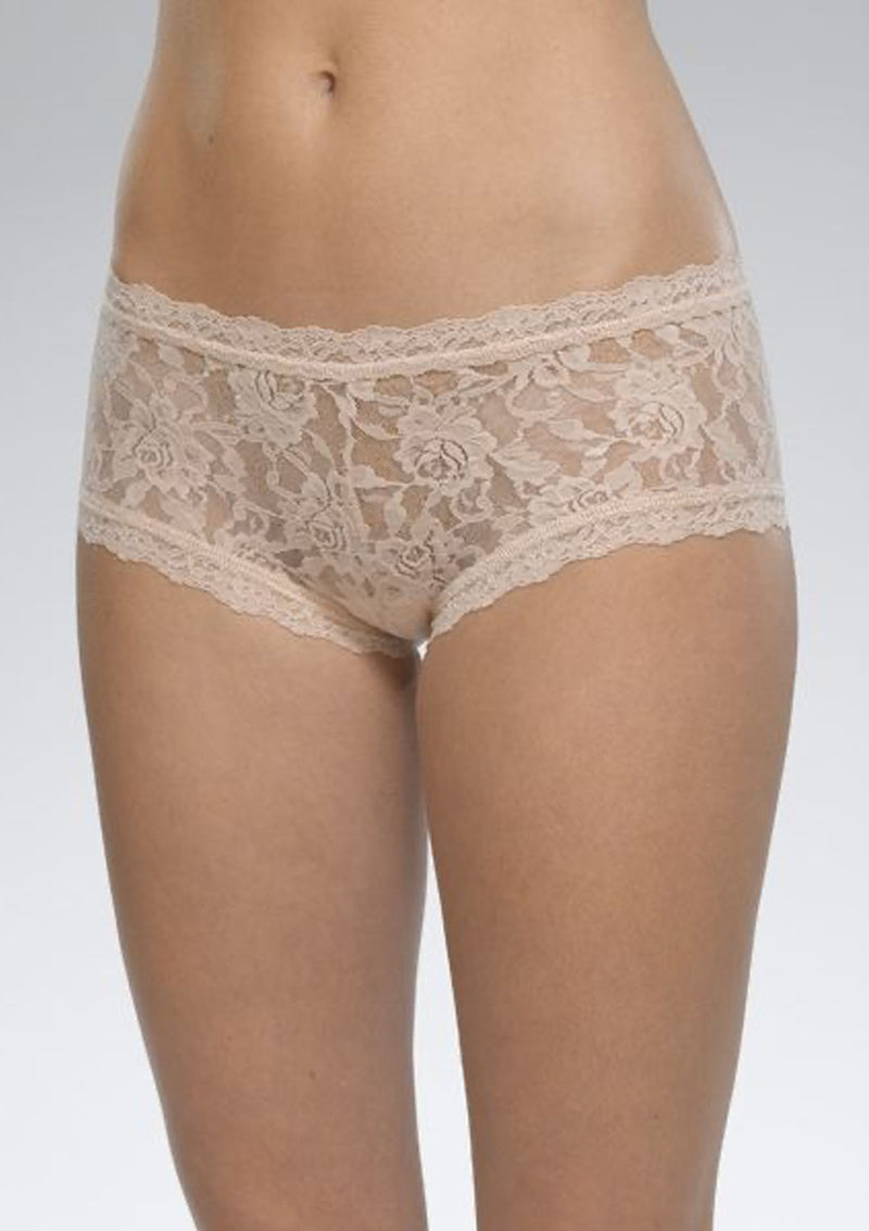 Signature Lace Boyshort | Chai