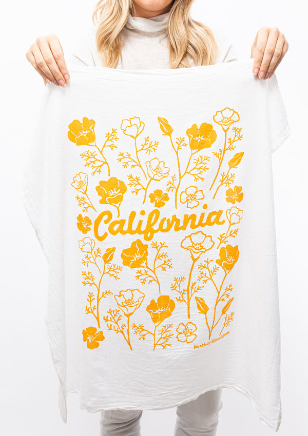 Flour Sack Dish Towel | California