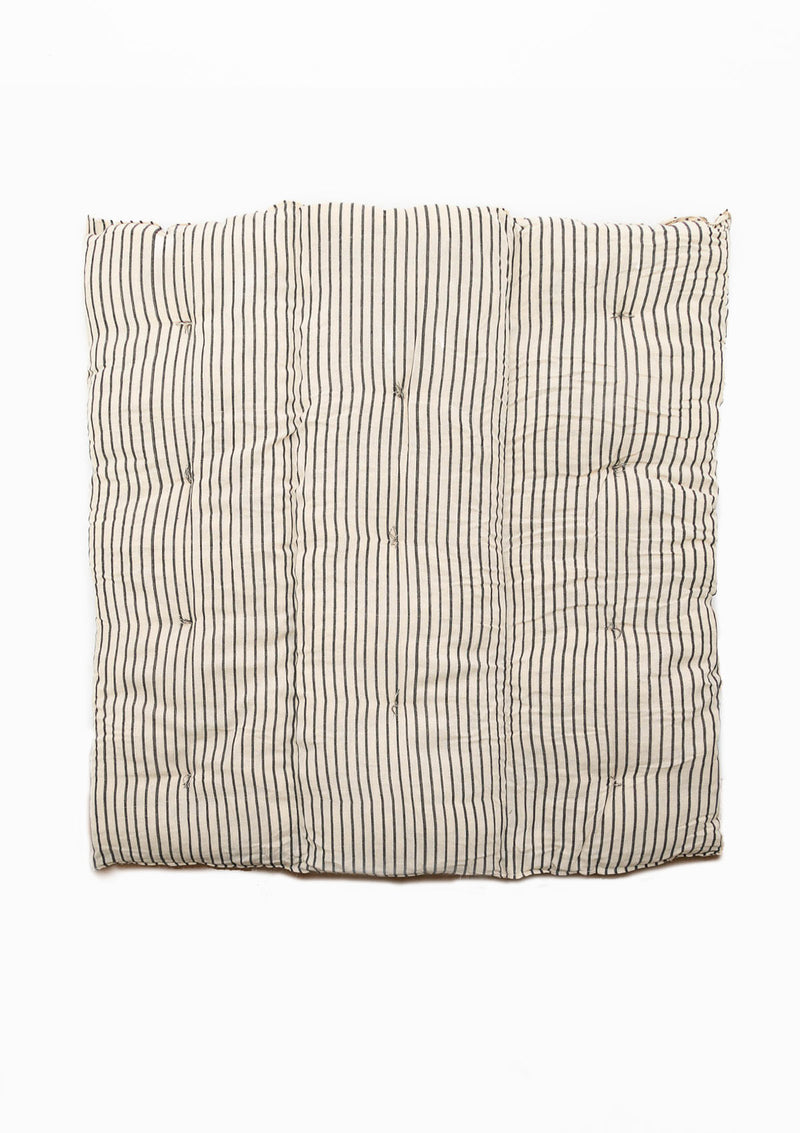 Mattress Square, Natural/Navy Stripe, 38x38