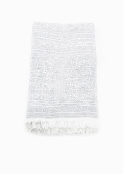 Oujda Throw, White/Charcoal