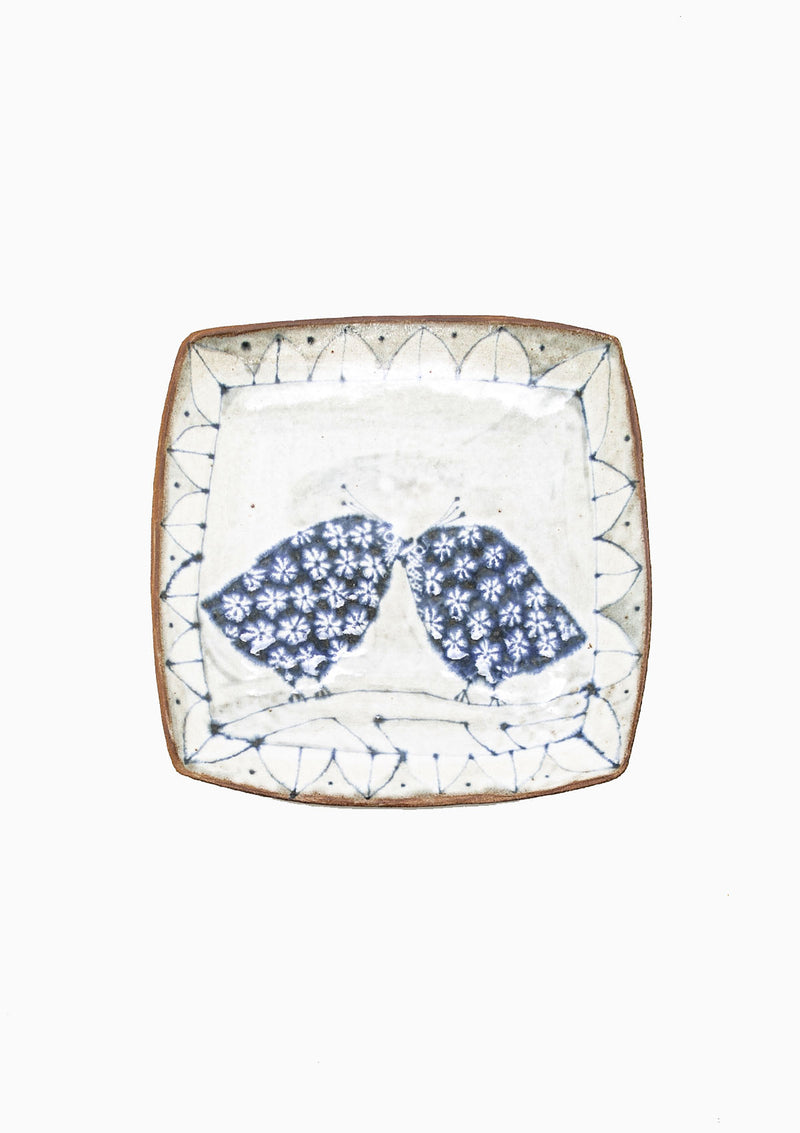 Large Square Platter Love Birds 10