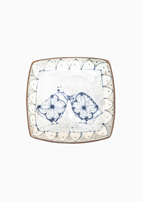 Large Square Platter Love Birds 11