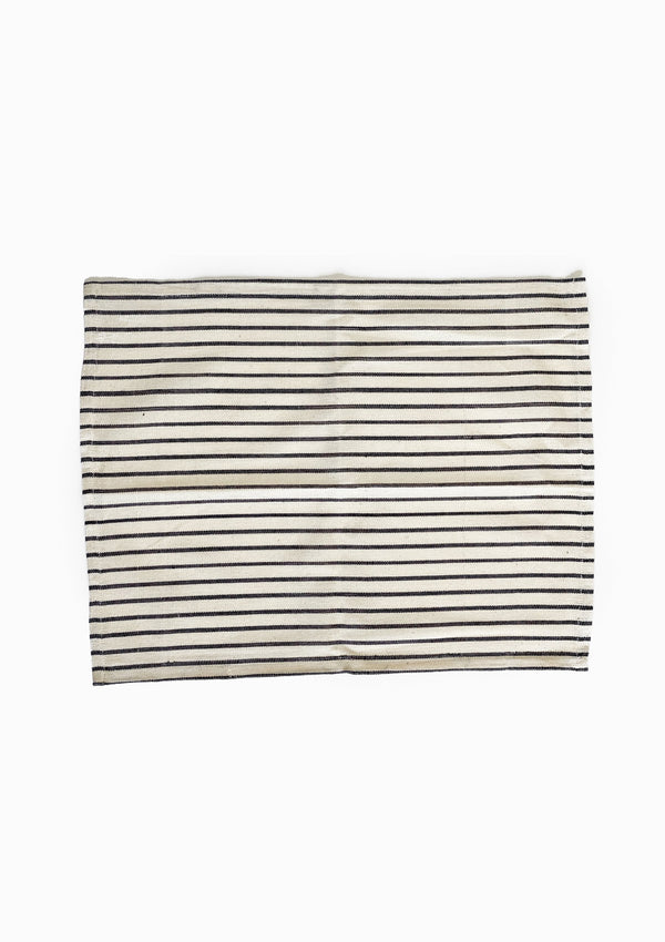 Placemat, Natural/Navy Stripe