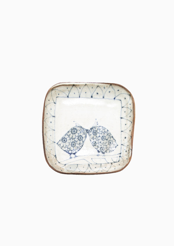 Small Square Platter Love Birds 7
