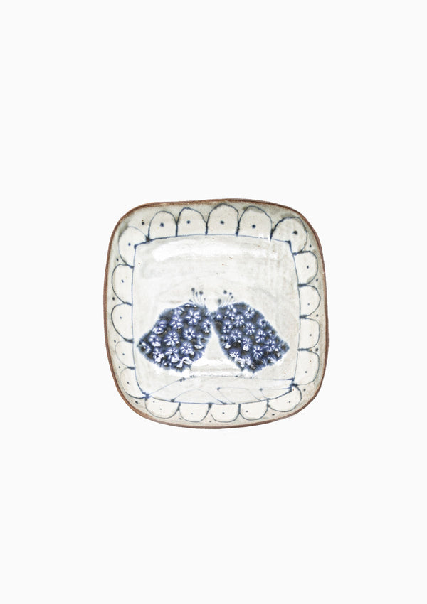 Small Square Platter Love Birds 5