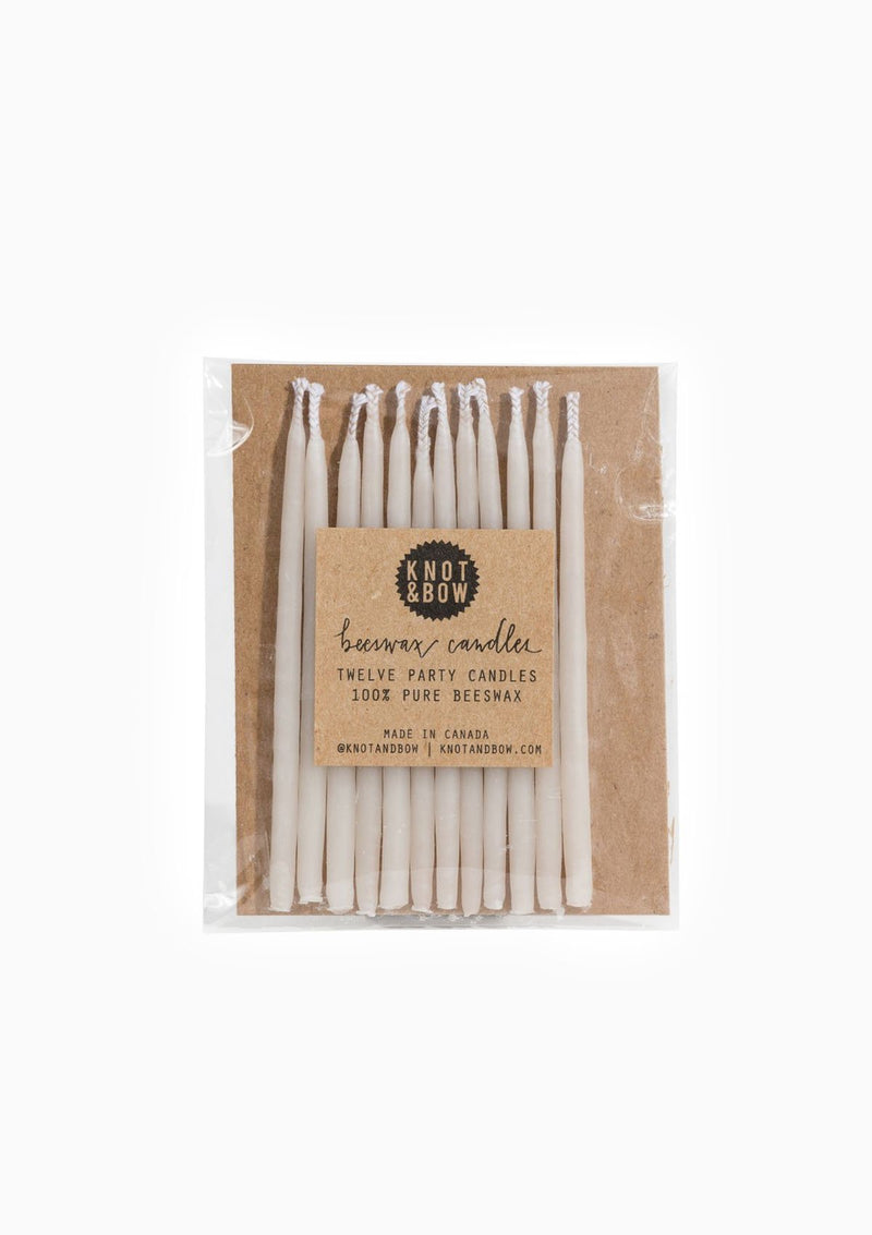 Beeswax Birthday Candles | Ivory