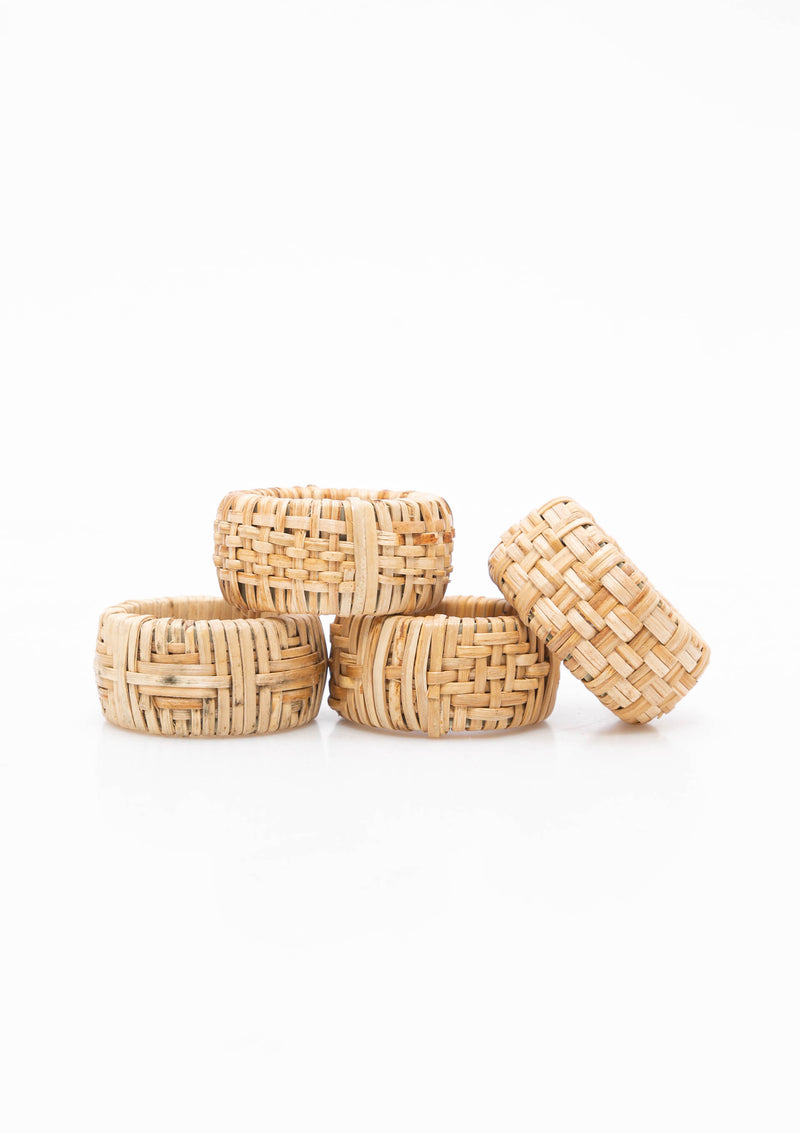 Cane Napkin Rings, Set of 4