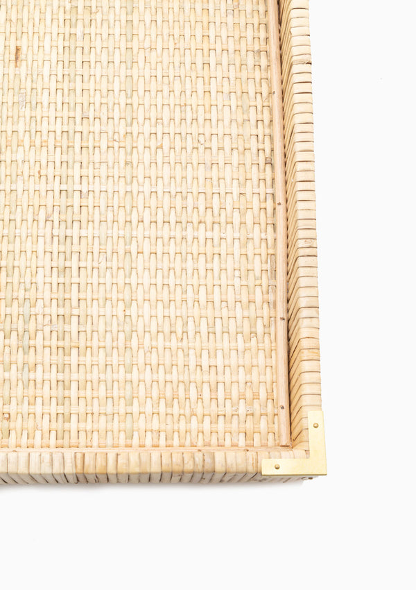 Oversized Rattan Tray, Medium