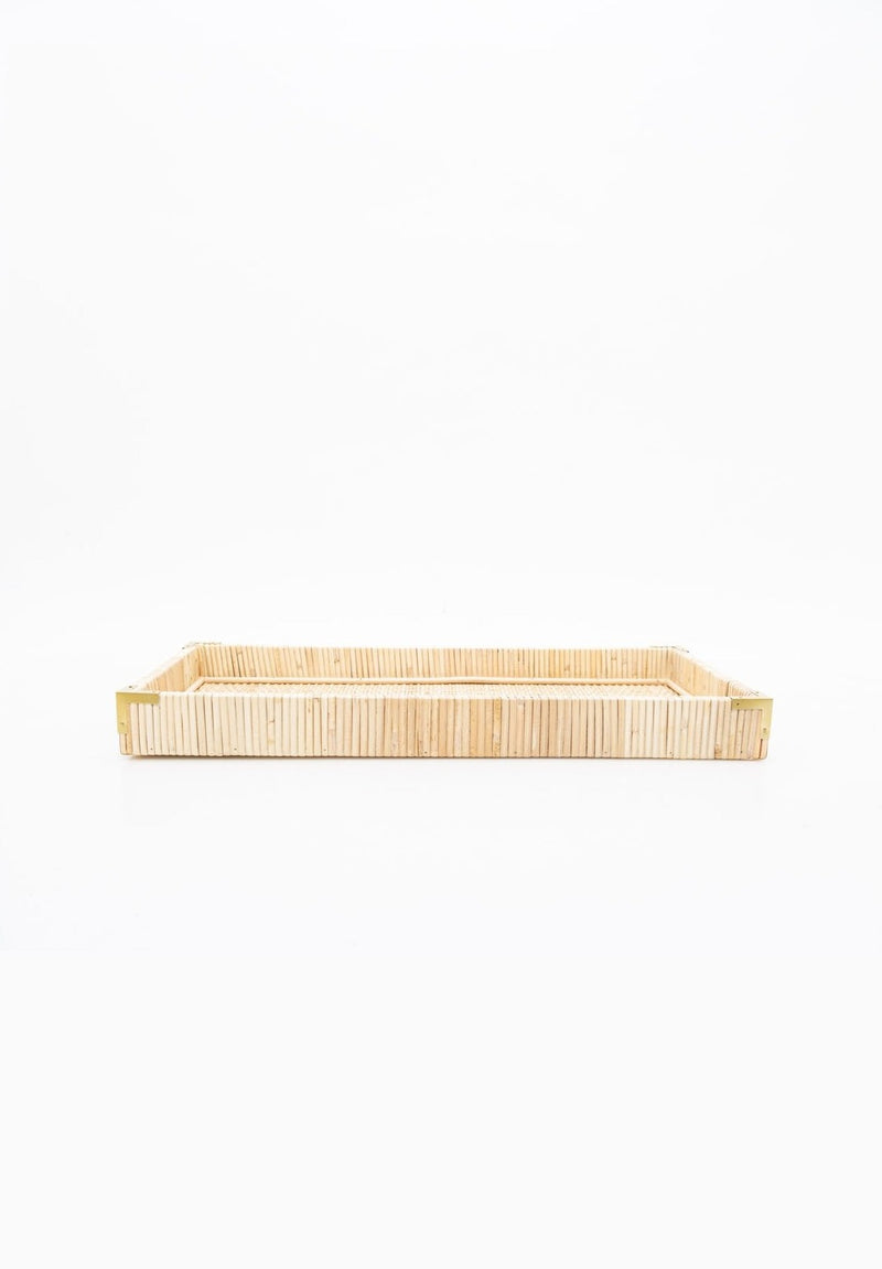 Oversized Rattan Tray, Small