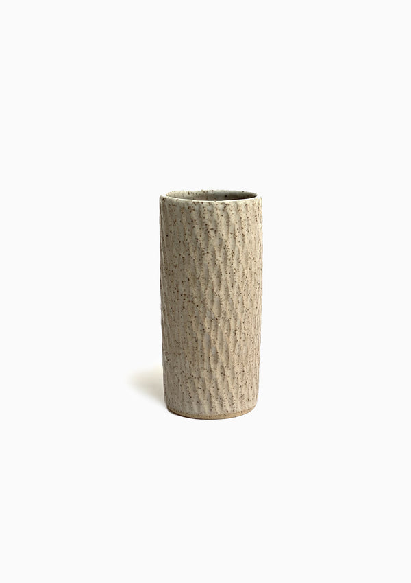 "Large Speckled Texture Vase |  7"" x 3"""