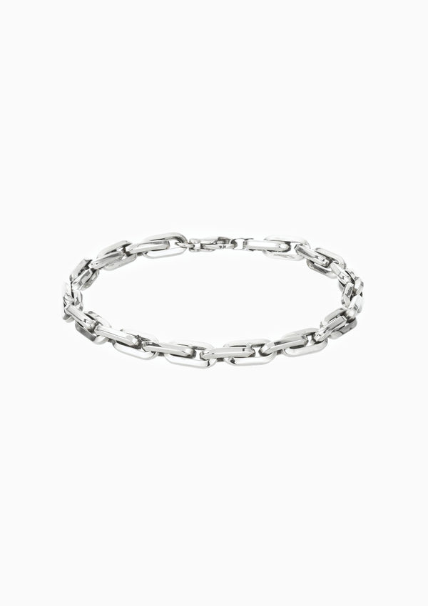 Thick Cable Chain Bracelet | Silver