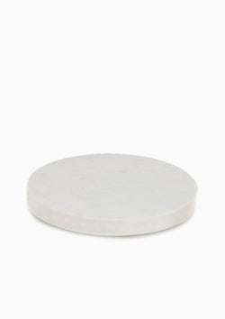 White Marble Thick Round Board