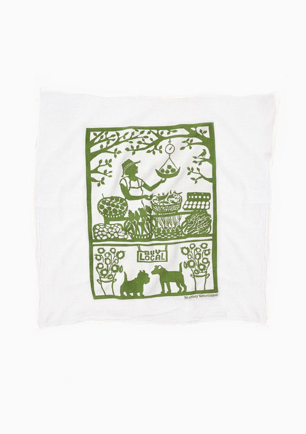 Flour Sack Dish Towel | Buy Local