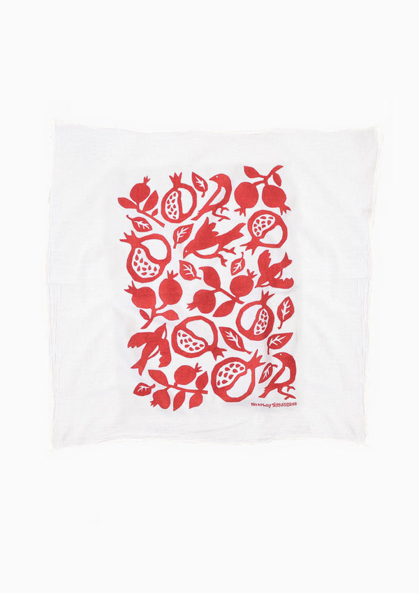 Flour Sack Dish Towel | Pomegranate