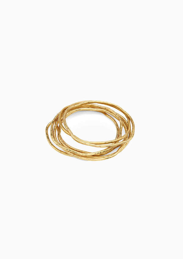 Nyundo Stacking Bracelets | Gold