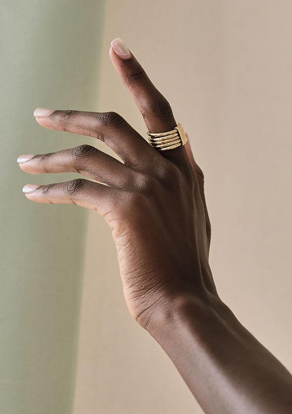 Nyundo Stacking Rings | Gold