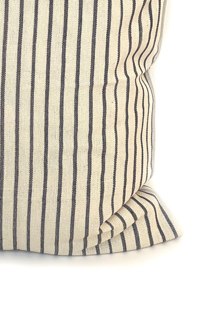 "Cushion, Natural/Navy Stripe, 20""x20"""
