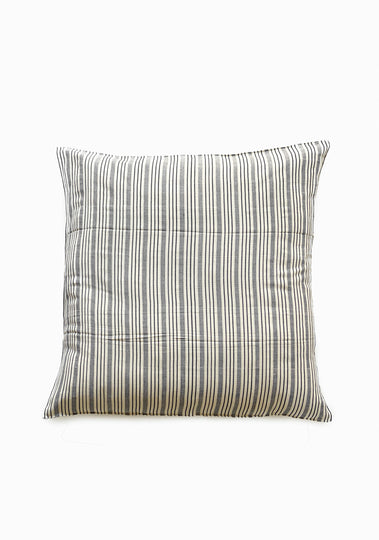 Floor Cushion, Natural/Blue Quad Stripe, 32