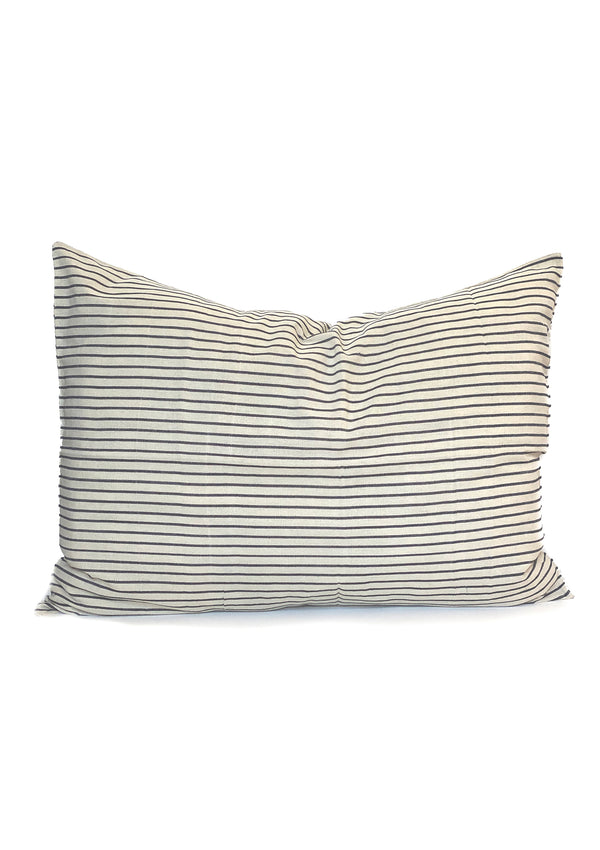 "Headboard Cushion, Navy Stripe, 24""x32"""