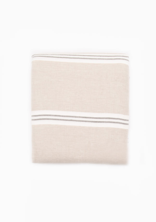 Pure Linen Striped Queen Duvet Cover