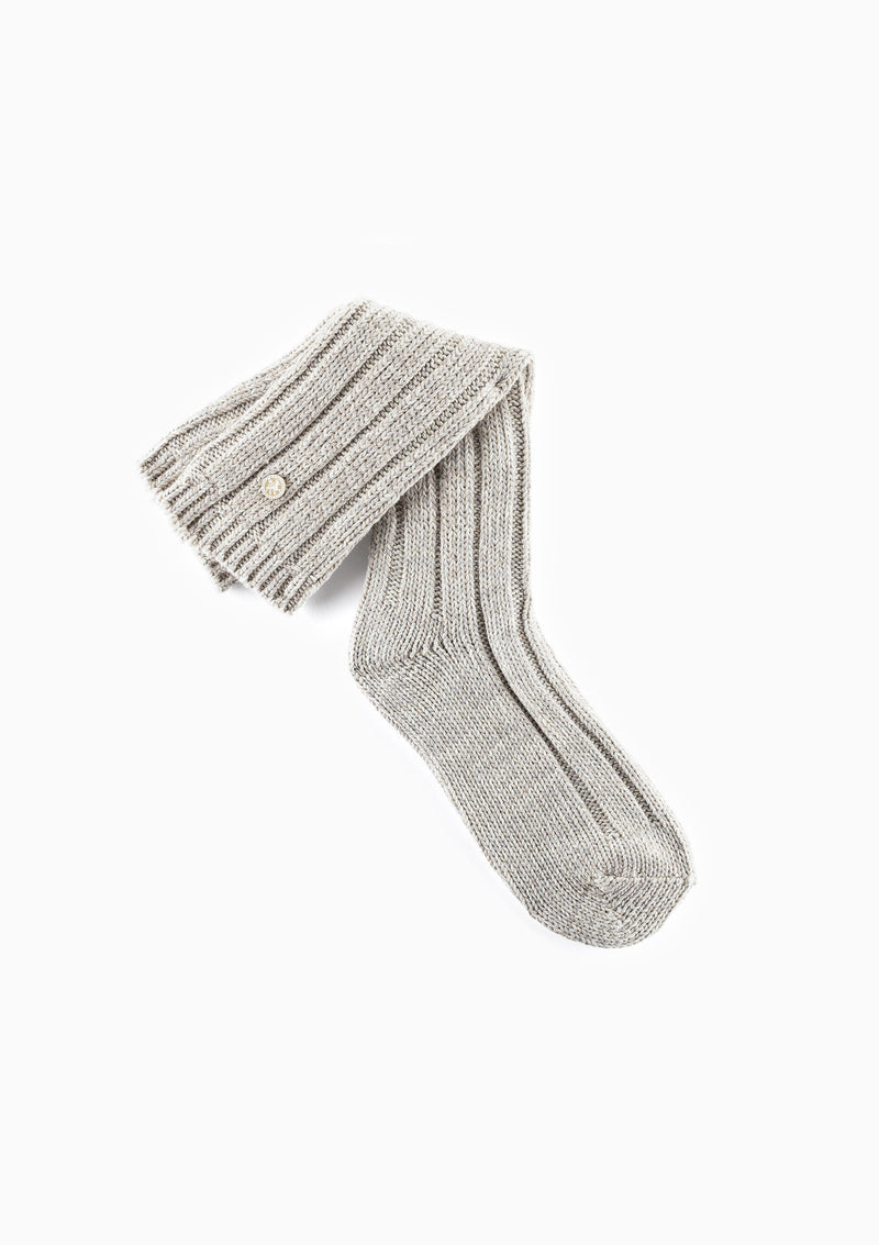 Cotton Twist Boot Sock | Eggnog