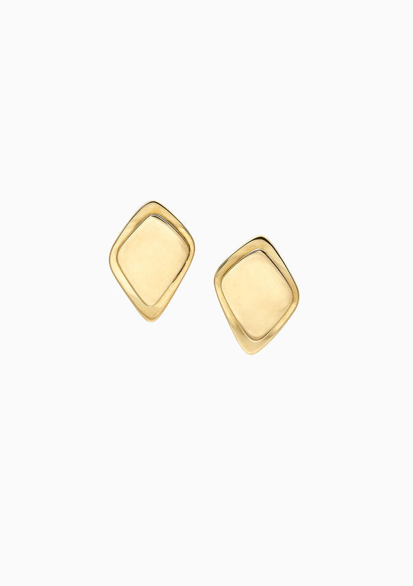 Makena Stud Earrings, Brass
