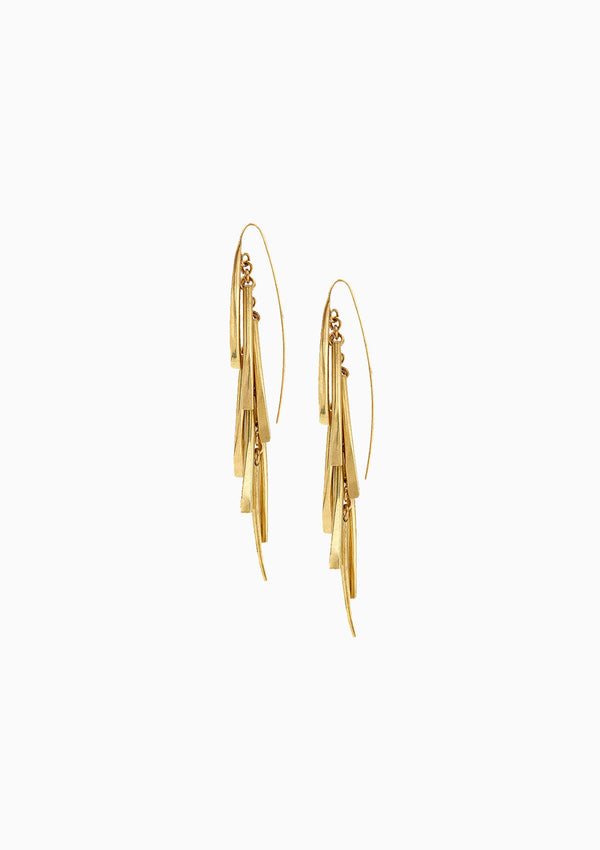 Tamasha Fringe Threader Earrings, Gold