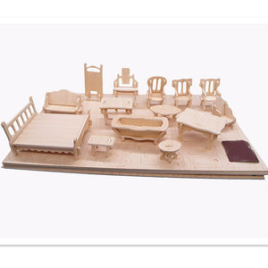Mini Diy Wooden Dollhouse Furniture Bebs Tods