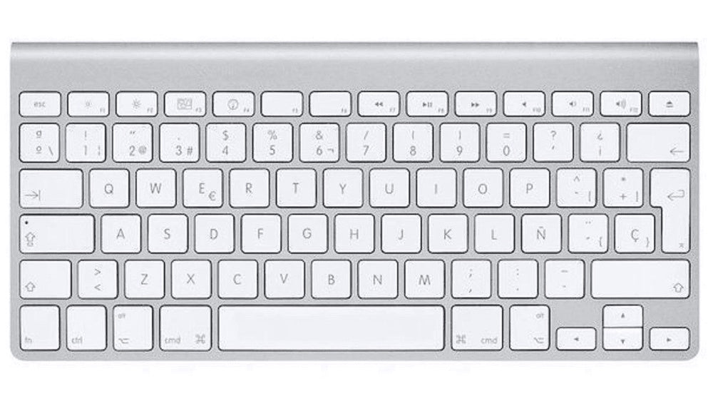 Apple Aluminum Wireless Bluetooth Keyboard MC184LL/B (B)