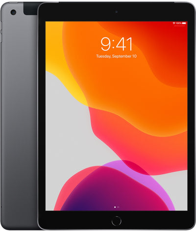 iPad 10.2 inch 7th Generation 32GB Space Gray Wi-Fi + Cellular MW6W2LL/A (C)