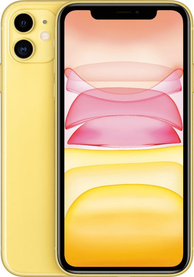 iPhone 11 128GB Yellow Unlocked MWLH2LL/A (B)
