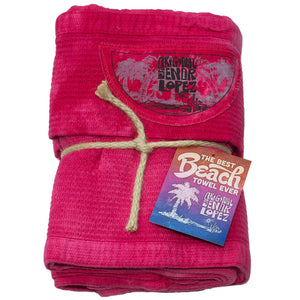 BEACH TOWEL - CHERRY