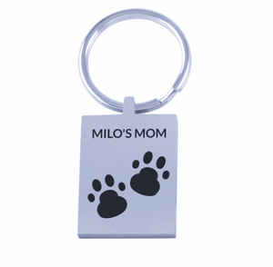 Personalized Pet Name Keychain