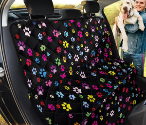 Colorful Paws Print Pet Seat Covers