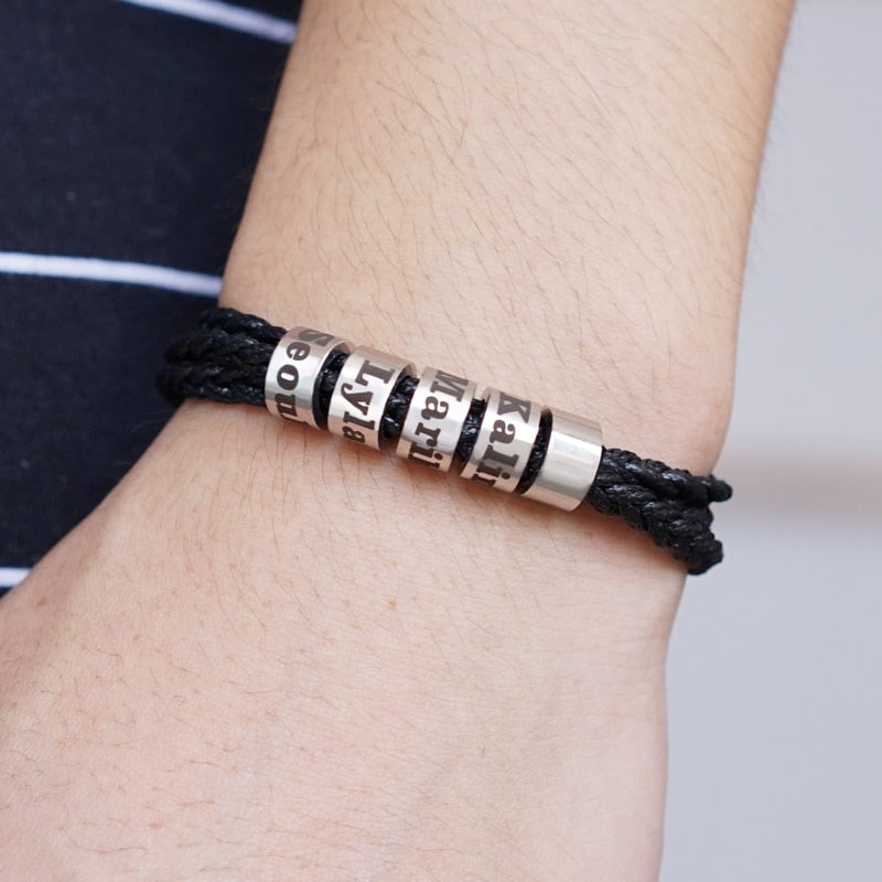 Personalized Pet On A Family Bracelet