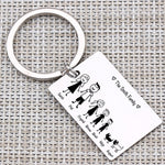 Engraved Pet On A Family Keychain