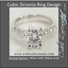 Cubic Zirconia Engagement Ring- The Audrey (2 Carat Floating CZ)
