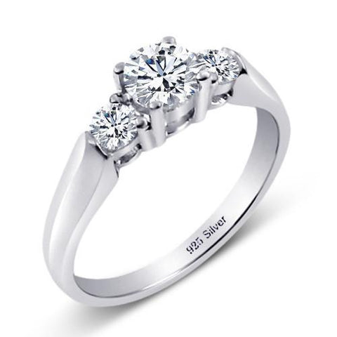 Cubic Zirconia Engagement Ring- The ________ Naming Rights 1287 (1.50 TCW Three-Stone Round Cut)